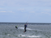 Kitesurfing at Laboe