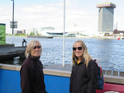 Anne and Fiona in Amsterdam
