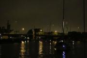 Night convoy through Amsterdam