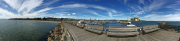 Panorama of Ystad harbour