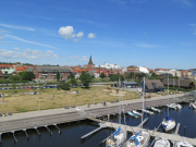 A view of YStad from the marina