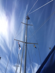 Up the mast in Ystad