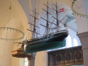 Ship model in Hasle Church