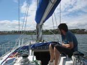 Heading into Bangor Marina