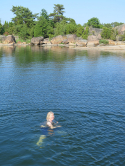 Swimming in Alo