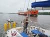 Heading along the Kiel canal