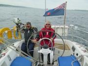 Derek and Adie - heading to Fehmarn