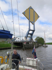 Heading round Leeuwarden