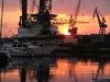 Sunset over Amsterdam Marina