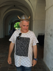 A horned warrior ...