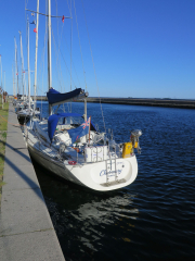 Moored in Flakfortet harbour