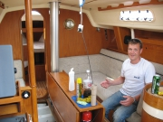 Viewing the boat pre-purchase at Levington