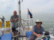 Heading across the Ijsselmeer