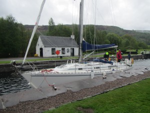 Moored in Cullochy Lock
