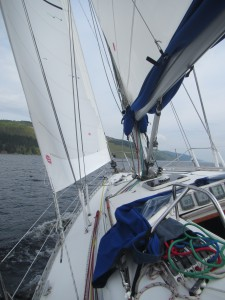 Sailing down Loch Ness
