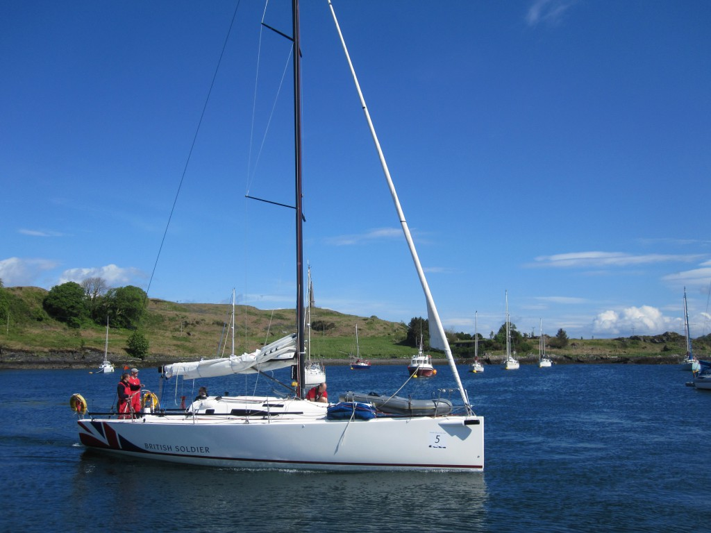 A Scottish Islands Peaks Race competitor