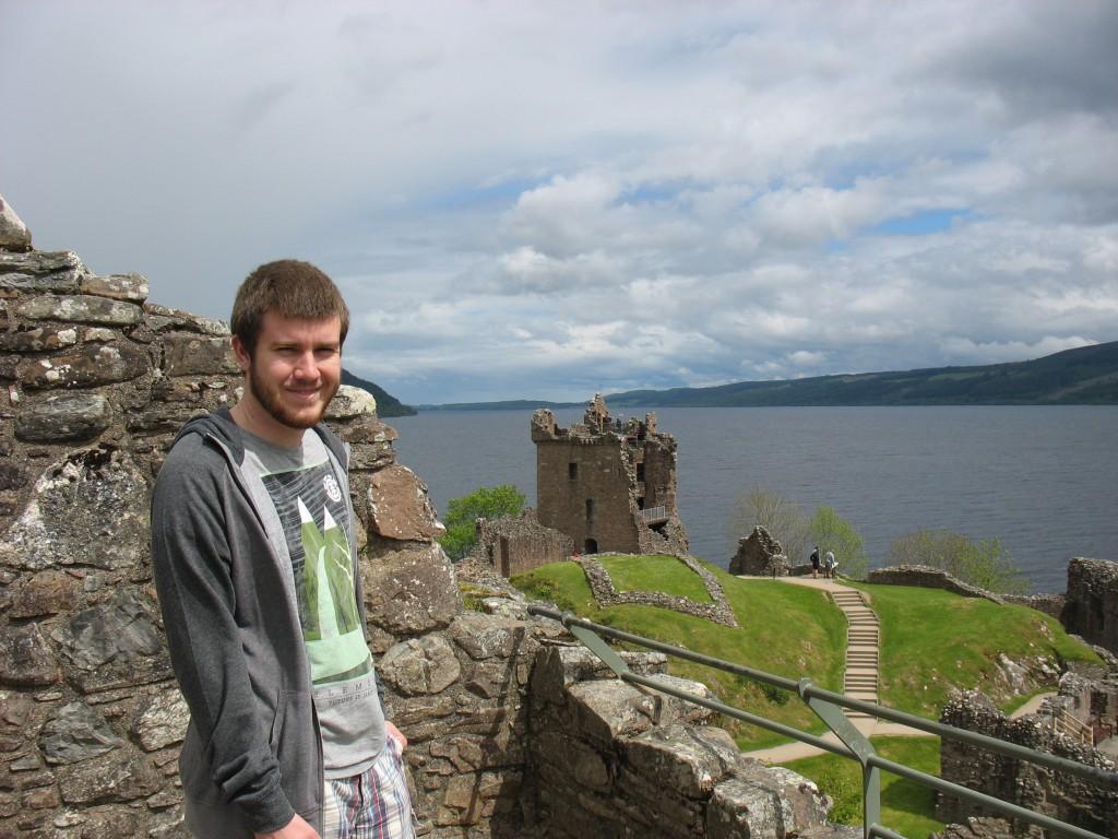 Alex at Urquhart Castle