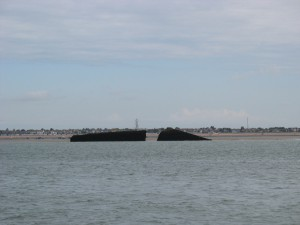 Mulberry Harbour unit off Southend