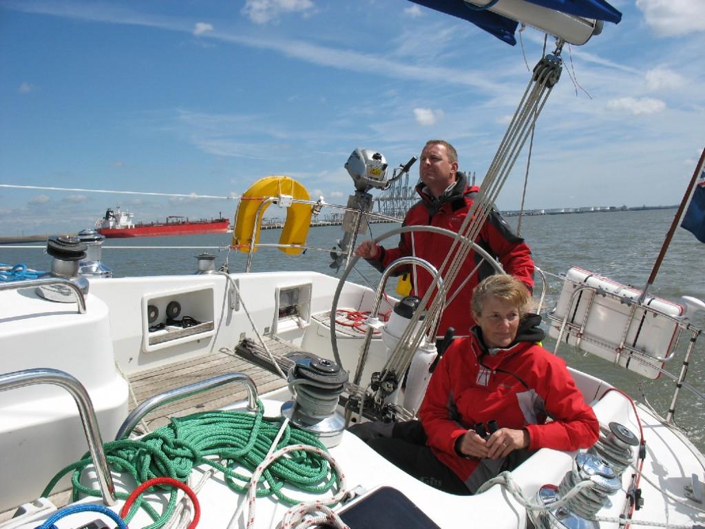 Scott and Jilly enjoying the sail